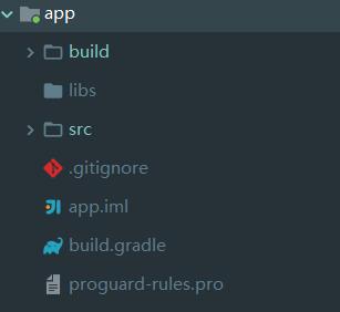 app目录结构